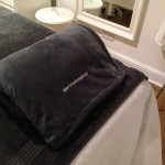 Dermalogica towel on treatment couch in The Spa Therapy Room