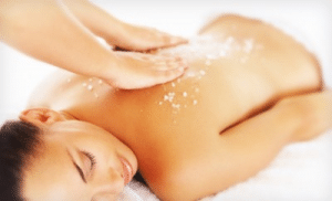 Body Scrub treatment performed by beauty therapist at beauty salon
